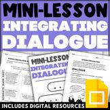 WRITING DIALOGUE ACTIVITIES Digital Grammar Worksheets and