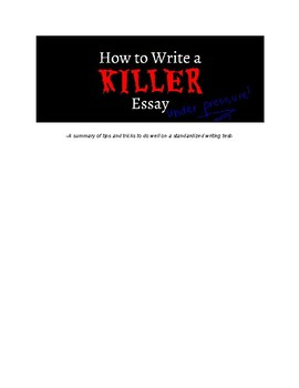 COMPLETE ESSAY PACK-Great for testing season!