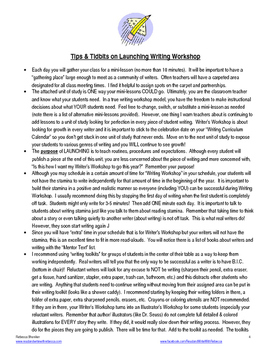 COMPLETE Fifth Grade Writer's Workshop Launching Unit of Study