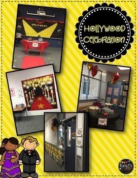 Hollywood Theme Celebration BUNDLE, Powerpoint, Printables, Paper, & MORE!