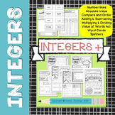 COMPLETE INTEGER UNIT - Sketch Notes, Games, and Practice