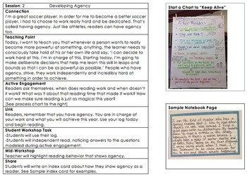 COMPLETE Launching Reader's Workshop Unit - Pictures, Charts, Notebook INCLUDED!