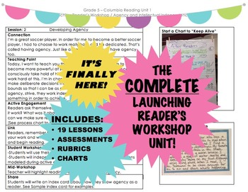 COMPLETE Launching Reader's Workshop Unit - Pictures, Char