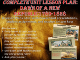 COMPLETE Lesson Plan Unit: Challenges of the Early Republi
