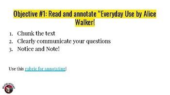 COMPLETE Lesson Slides for Everyday Use by Alice Walker