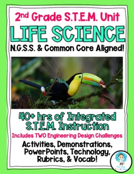 2nd Grade NGSS COMPLETE Life Science STEM Unit!!