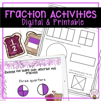 FRACTIONS UNIT WITH LESSON PLANS, GAMES, WORKSHEETS, AND MORE FOR FIRST GRADE