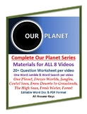 COMPLETE: Our Planet - Netflix Video Series Worksheets, Word Searches & Jumbles