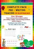 COMPLETE PACK PRE-WRITING TRACING, ALL IN SLOVAKIAN LANGUAGE