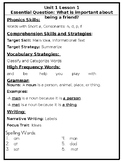 COMPLETE PACKET HMH Focus Wall Outline First Grade