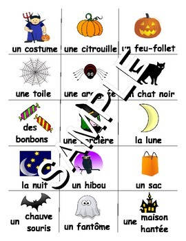Halloween FRENCH Workbook & Games Package