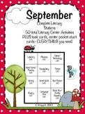1st Grade LITERACY STATIONS: September