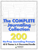 COMPLETE Set of Journaling Prompts for Kids (8 Themed Sets
