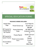 IEP Case Load Management Forms- SPECIAL EDUCATION/ IEP BINDER