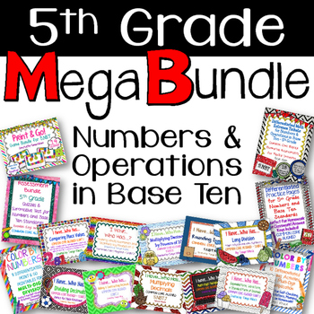 ULTIMATE BUNDLE FOR 5TH GRADE Numbers & Operations in Base