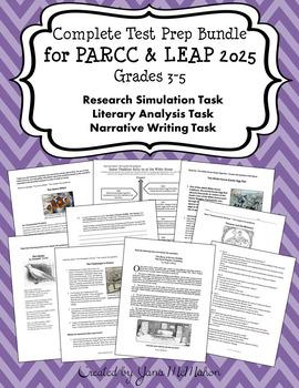 COMPLETE TEST PREP BUNDLE FOR PARCC & LEAP 2025