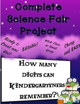 COMPLETE Whole Class Science Fair Project
