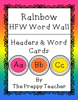 COMPLETE Word Wall Package RAINBOW
