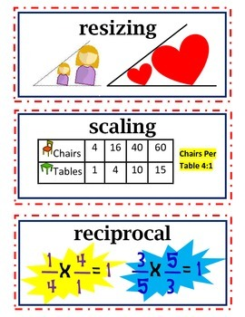 COMPLETE enVision Common Core Math Vocabulary Word Wall Cards Grade 5 Topic 1-16