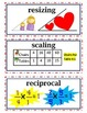 COMPLETE enVision Common Core Math Vocabulary Word Wall Ca