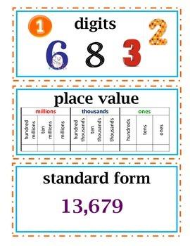 COMPLETE enVision Math Common Core Edition & Realize Edition Vocab Cards Grade 3