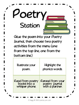 1st Grade LITERACY STATIONS: Rotation 4 of 5