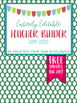 Editable Teacher Planner 2017-2018- Polka Dot