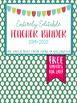 Editable Teacher Planner 2018-2019- Polka Dot