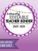 Editable Teacher Planner 2017-2018- Ombre