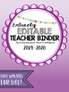 Editable Teacher Planner 2018-2019- Ombre