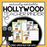 Editable Teacher Planner 2019-2020- Hollywood Theme