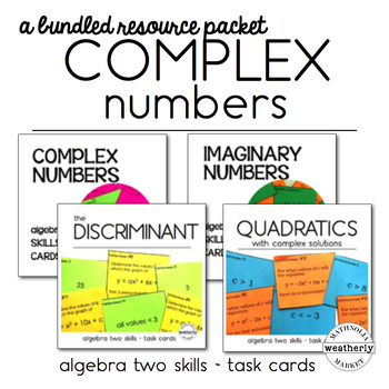COMPLEX NUMBERS - Bundled resources