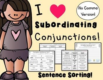 Complex Sentence Sort