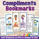 COMPLIMENT CARDS OR BOOKMARKS Positive Affirmations Colori