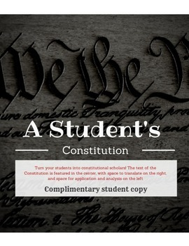 COMPLIMENTARY Student's Copy: Student's Constitution Lesson Plan