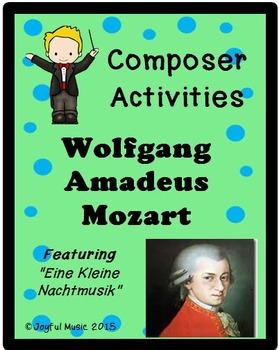 COMPOSER ACTIVITIES Wolfgang Amadeus Mozart