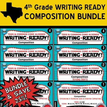 COMPOSITION BUNDLE ~ WRITING READY 4th Grade Task Cards- 8