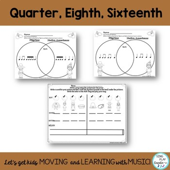Music Class November Composing and Rhythm Activities K-6 No Prep Worksheets