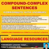 COMPOUND-COMPLEX SENTENCE: 12 WORKSHEETS WITH ANSWERS