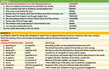 PREPOSITION KINDS LESSON AND RESOURCES