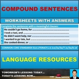 COMPOUND SENTENCES WORKSHEETS WITH ANSWERS