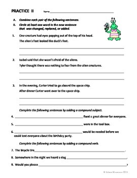 COMPOUND SUBJECT & VERB and COMPOUND SENTENCES:  Lessons and More