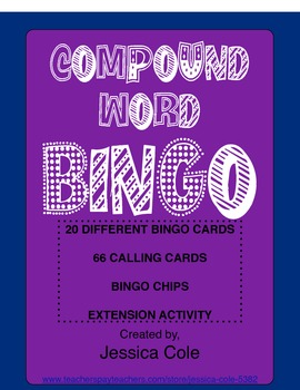 COMPOUND WORD BINGO (includes extension activity)