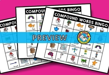 COMPOUND WORDS PICTURES BINGO ⚫ COMPOUND WORDS GAME