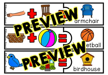 COMPOUND WORDS ACTIVITY (PUZZLES WITH PICTURES)