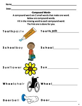COMPOUND WORDS 2ND & 3RD GRADE