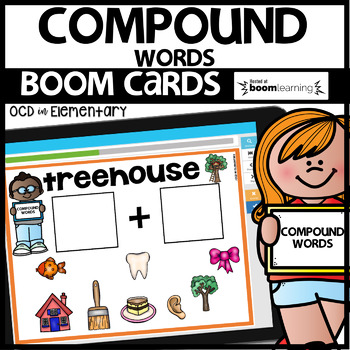 COMPOUND WORDS | BOOM CARDS | Digital Task Cards