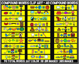 COMPOUND WORDS CLIP ART- 90 WORD images (40 compound words) 385 TOTAL IMAGES