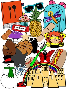 COMPOUND WORDS CLIP ART * COLOR AND BLACK AND WHITE