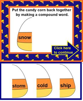 COMPOUND WORDS - Candy Corn Style